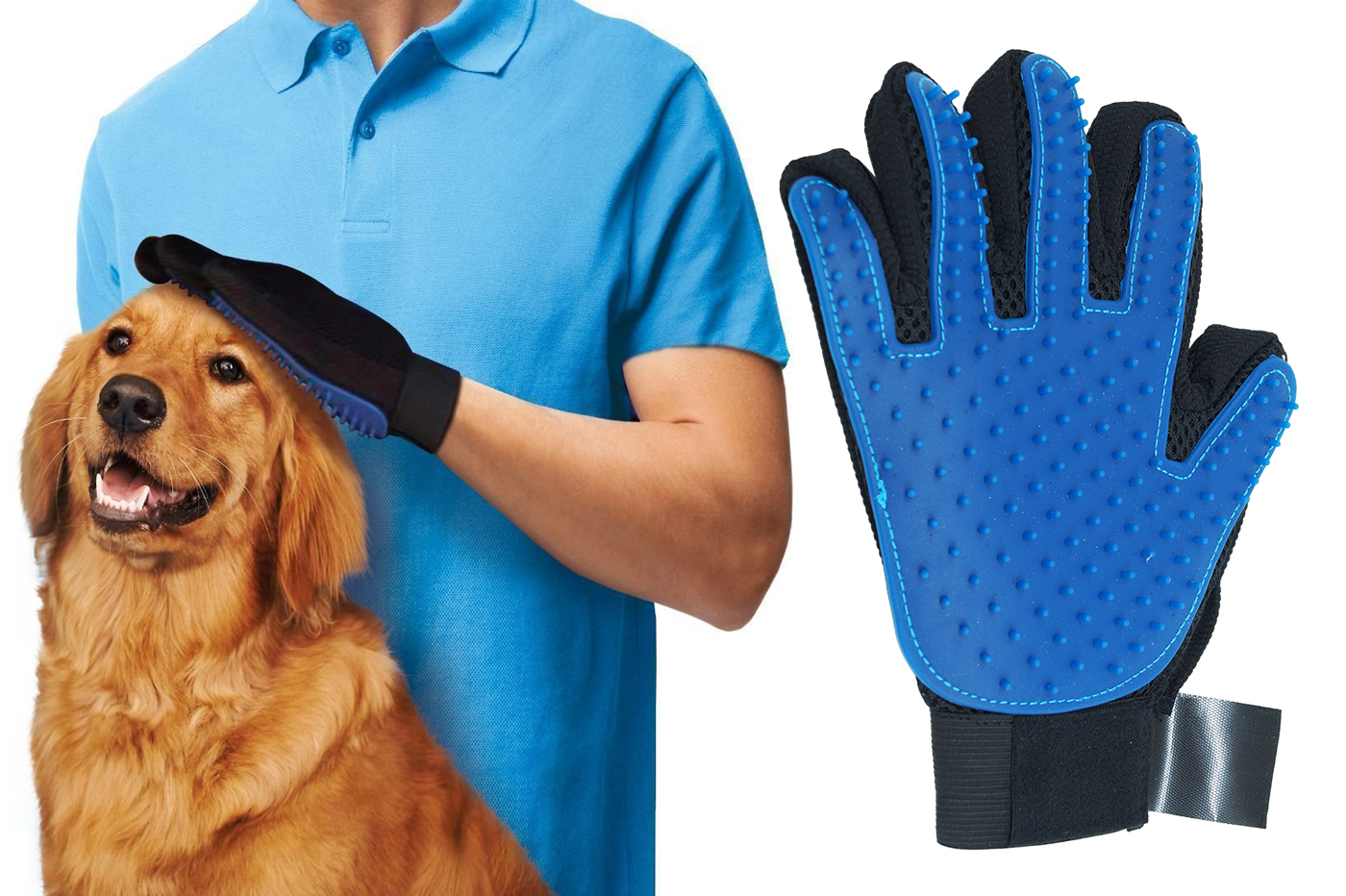 spazzola per cani a guanto